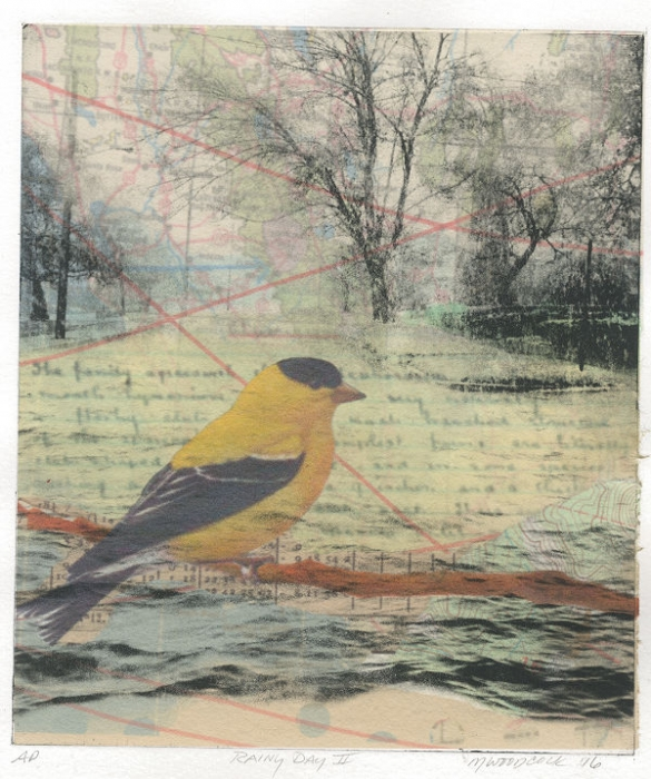 2016 Corvidae Print Exchange by Margaret Woodcock